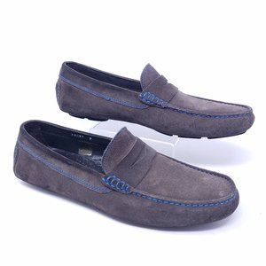 To Boot New York DRIVER NAVY driving suede loafer